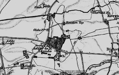 Old map of Ashby de la Launde in 1899