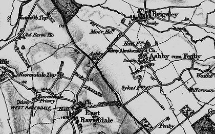 Old map of Ashby Hill in 1899