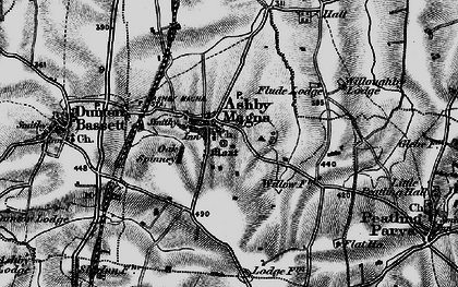 Old map of Ashby Magna in 1898