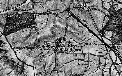 Old map of Ashby St Ledgers in 1898