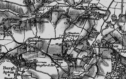 Old map of Ashby St Mary in 1898