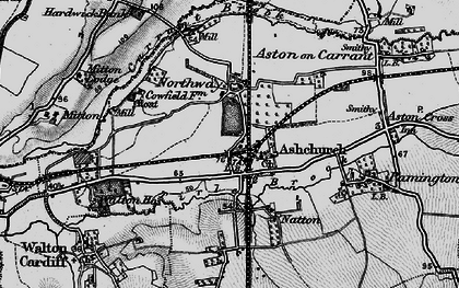 Old map of Ashchurch in 1896