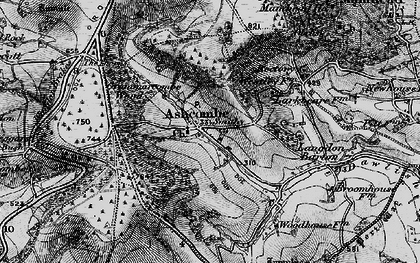 Old map of Ashcombe in 1898