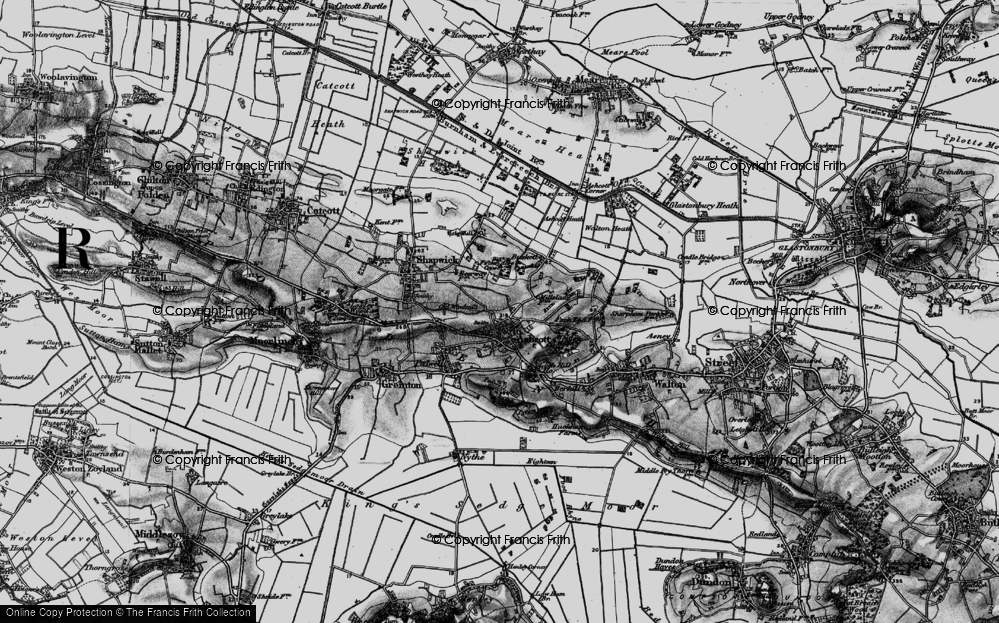 Old Map of Ashcott, 1898 in 1898