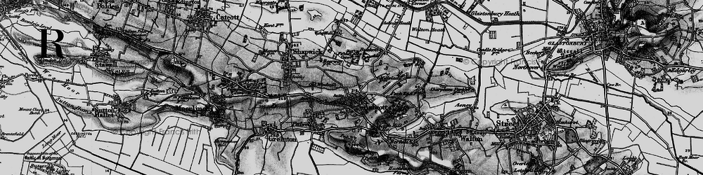 Old map of Ashcott in 1898