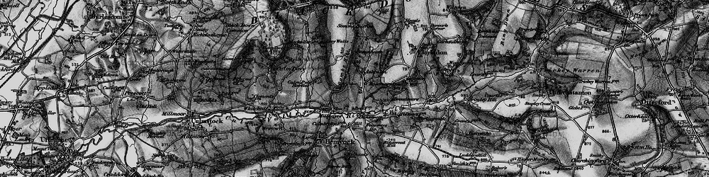 Old map of Ashculme in 1898