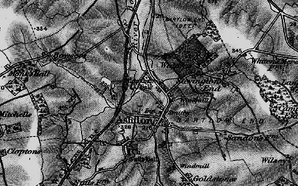 Old map of Ashdon in 1895