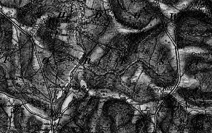 Old map of Ashdown Forest in 1895