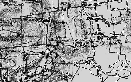Old map of Asheldham in 1895