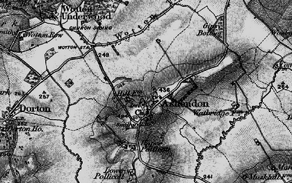 Old map of Ashendon in 1896