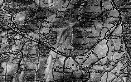 Old map of Ashey Down in 1895