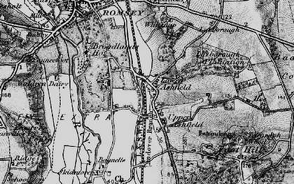 Old map of Ashfield in 1895