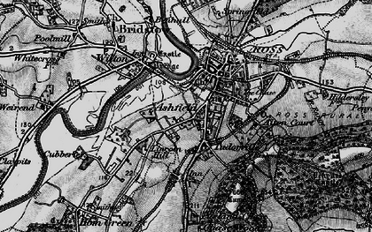Old map of Ashfield in 1896