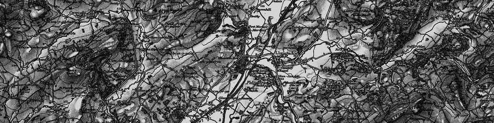 Old map of Aber-Marlais Pk in 1898