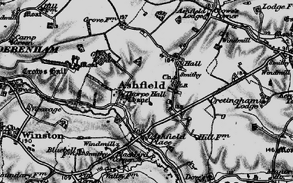 Old map of Ashfield in 1898