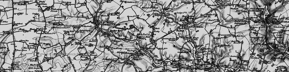 Old map of Whitepost Corner in 1898
