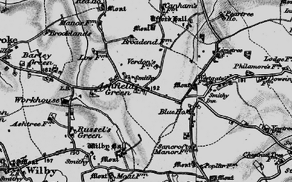 Old map of Ashfield Green in 1898