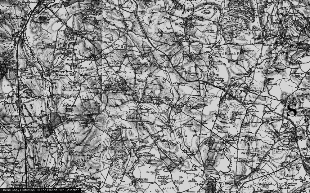 Old Map of Ashfields, 1897 in 1897