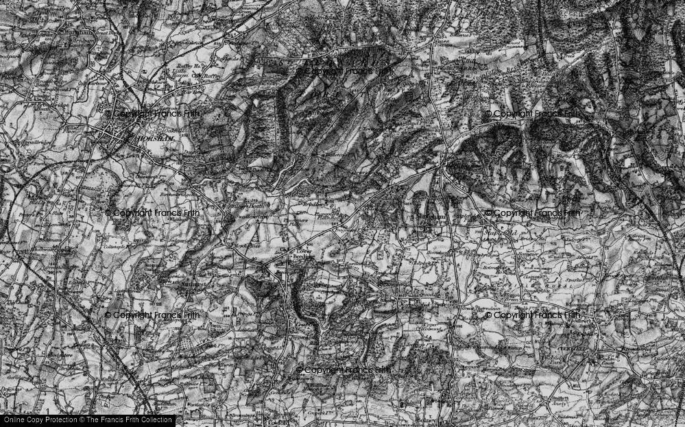 Old Map of Ashfold Crossways, 1895 in 1895