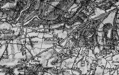 Old map of Ashfold Crossways in 1895