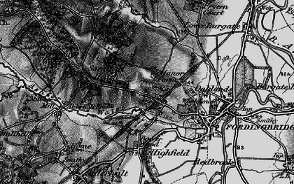 Old map of Ashford in 1895