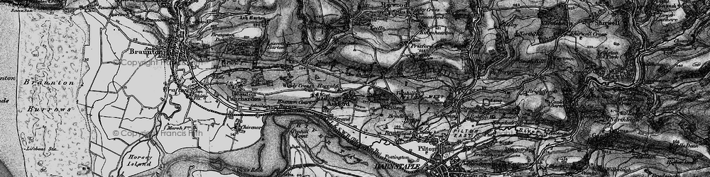Old map of Ashford in 1898