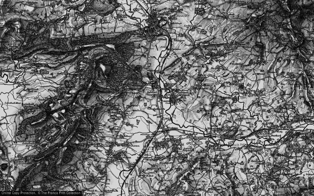 Old Map of Ashford Bowdler, 1899 in 1899