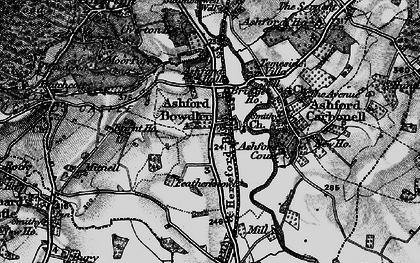Old map of Wheat Common in 1899