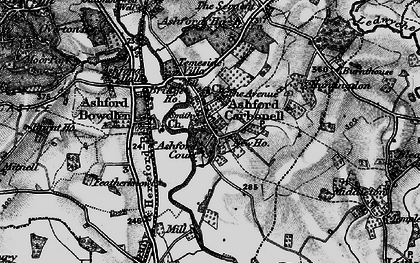 Old map of Ashford Court in 1899
