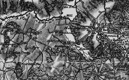 Old map of Ashford Hill in 1895