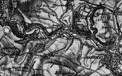 Old map of Ashford in the Water in 1896