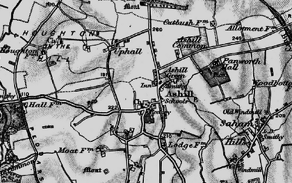 Old map of Ashill Common in 1898