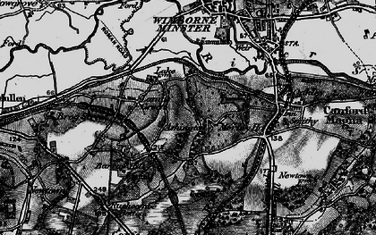 Old map of Ashington in 1895