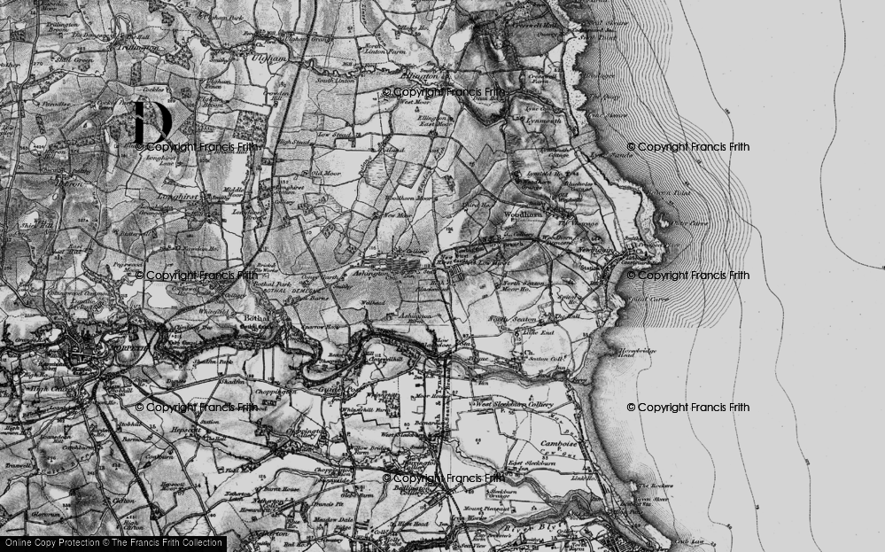 Old Map of Ashington, 1897 in 1897
