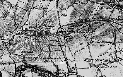 Old map of Ashington in 1897