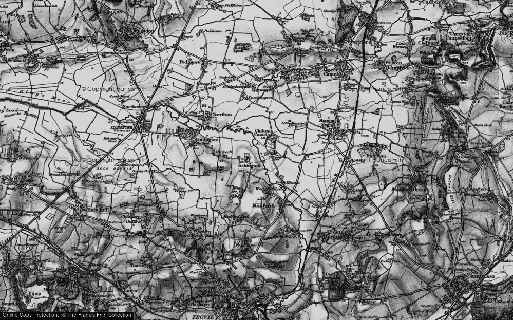 Old Map of Ashington, 1898 in 1898