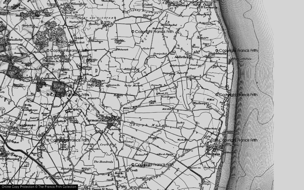 Old Map of Ashington End, 1898 in 1898