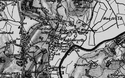 Old map of Ashleworth Quay in 1896