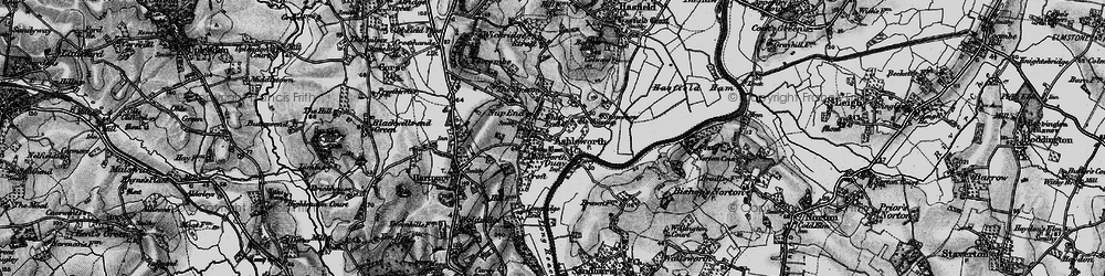 Old map of White End in 1896