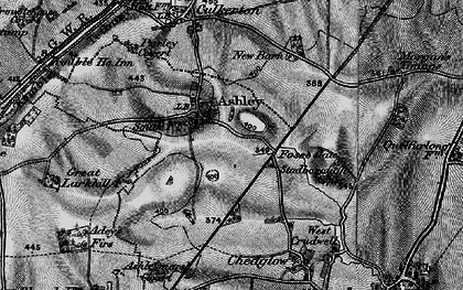 Old map of Ashley in 1896