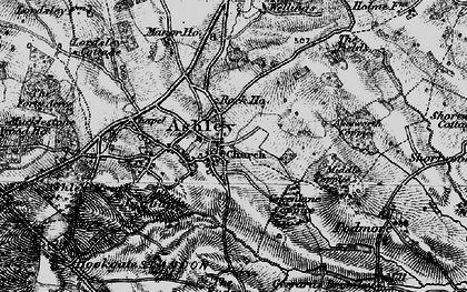 Old map of Akesworth Coppice in 1897