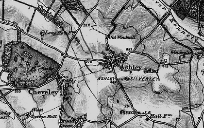 Old map of Ashley in 1898
