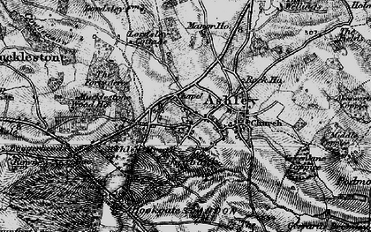 Old map of Ashley Dale in 1897