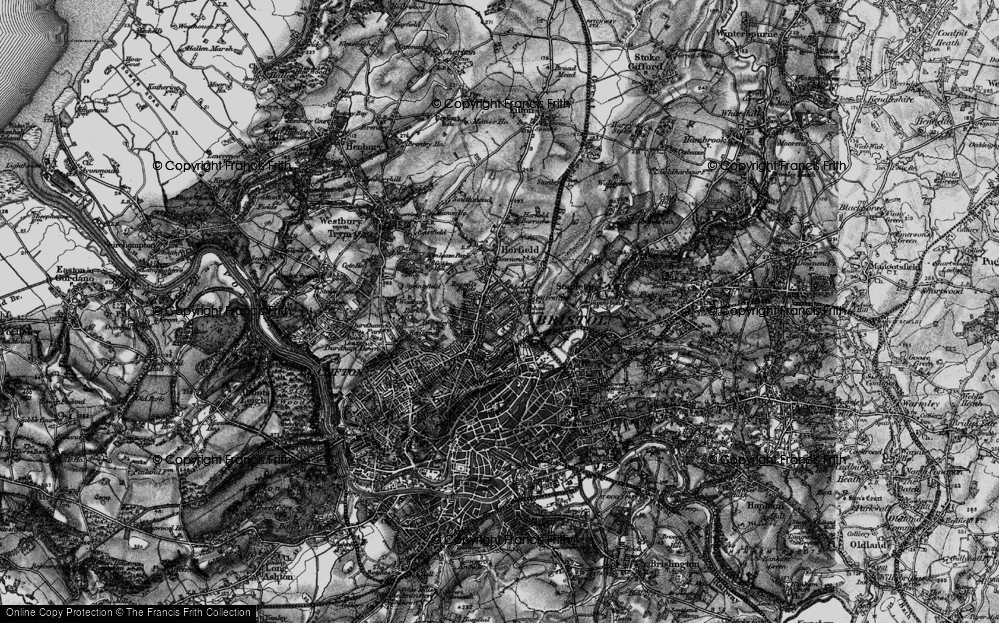 Old Map of Ashley Down, 1898 in 1898