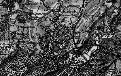 Old map of Ashley Down in 1898