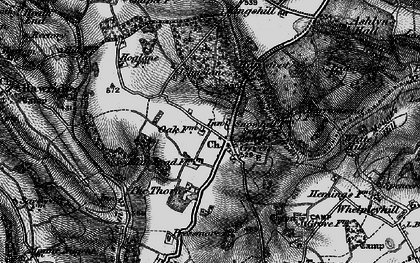 Old map of Ashley Green in 1896