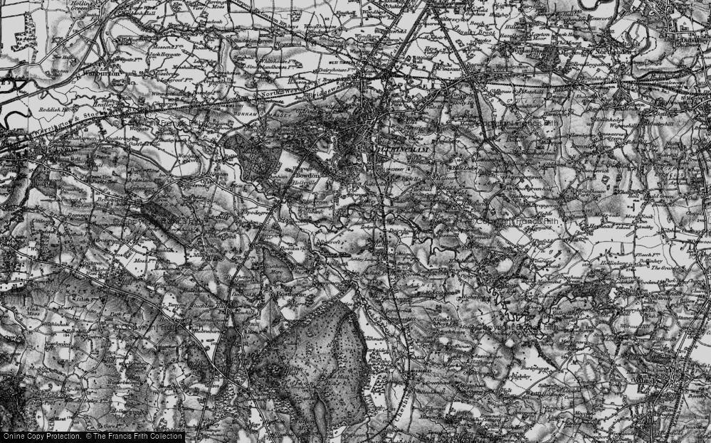Old Map of Ashley Heath, 1896 in 1896