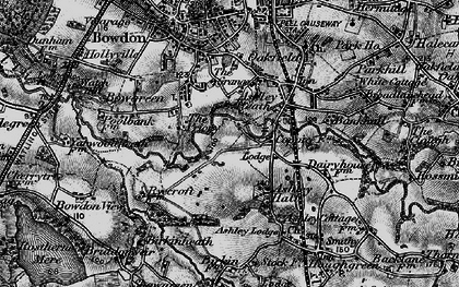 Old map of Ashley Heath in 1896
