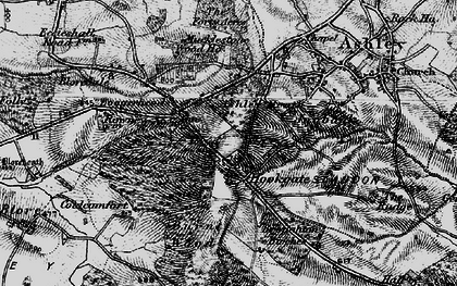 Old map of Ashley Heath in 1897