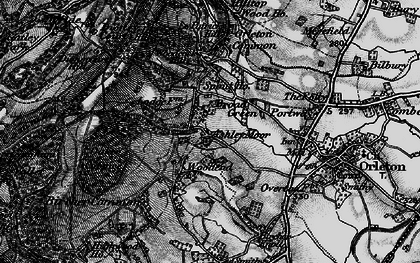 Old map of Ashley Moor in 1899